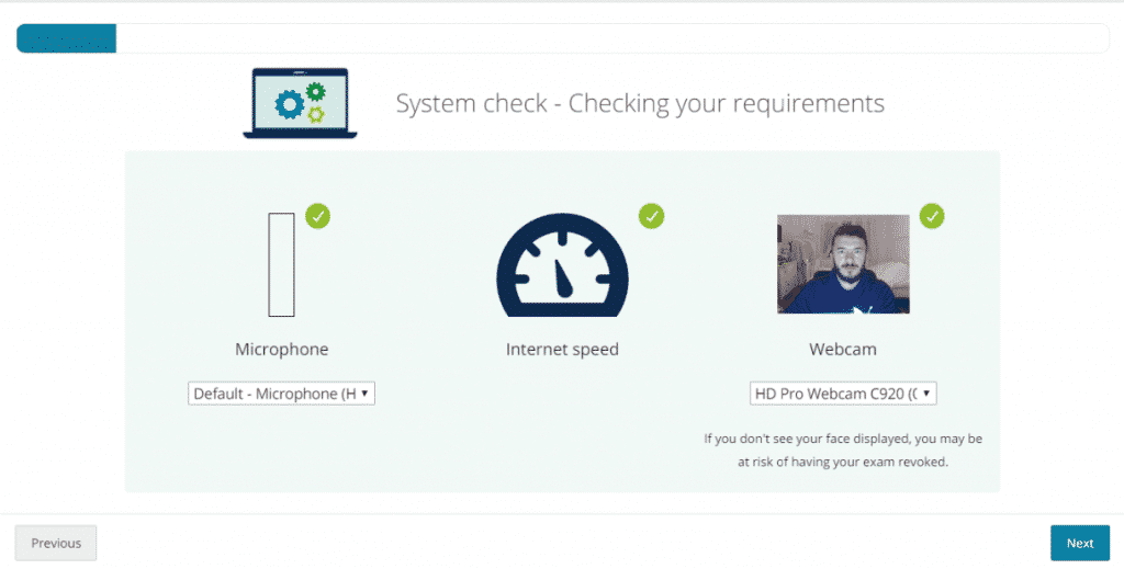 System Check PearsonVUE