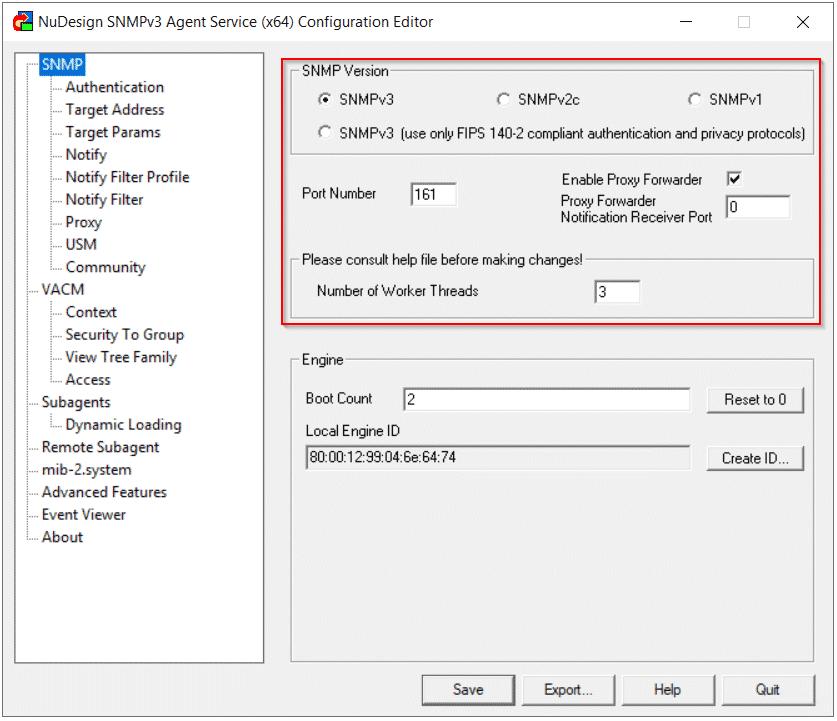 NuDesign SNMPv3 Version